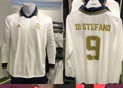 Enlace a La preciosa camiseta 'vintage' que el Madrid comercializará este año