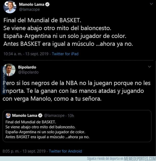 1085715 - La mejor respuesta a Manolo Lama sobre el 'mito' del baloncesto