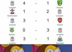 Enlace a Los hinchas del Liverpool viendo su arranque de temporada