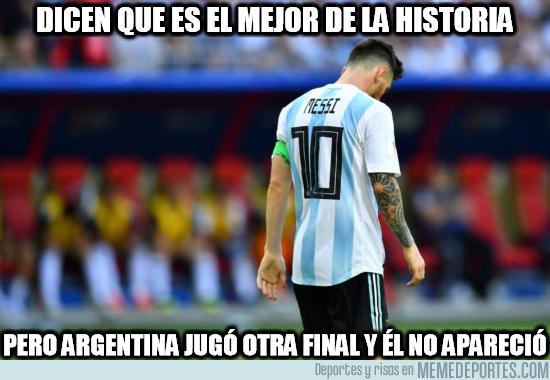 1085942 - Si tan bueno es Messi ¿por qué no apareció contra España?