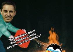 Enlace a Gary Neville aparece ahora para echar más leña al fuego del Valencia