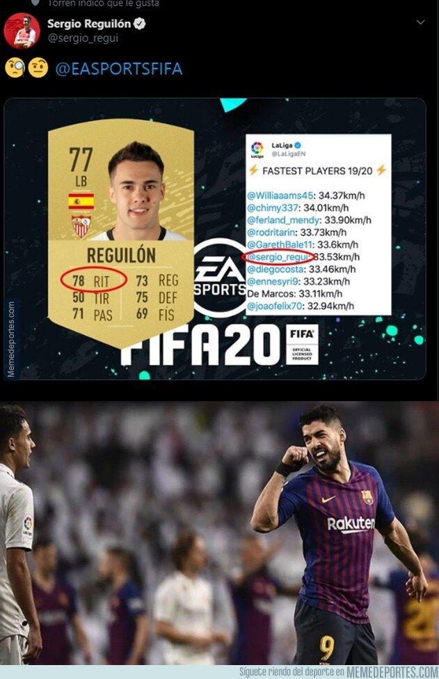 1086018 - Reguilón se queja ante EA Sports por ponerle 78 de ritmo