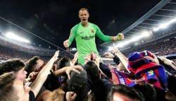 Enlace a Ter Stegen salvó al Barça de una derrota en su estreno en Champions en esta temporada...