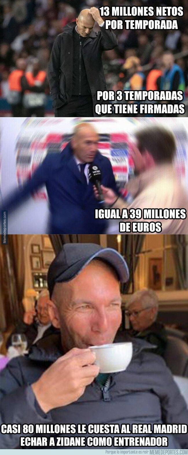 1086289 - Este es el auténtico pastizal que le costaría al Real Madrid echar a Zidane como entrenador