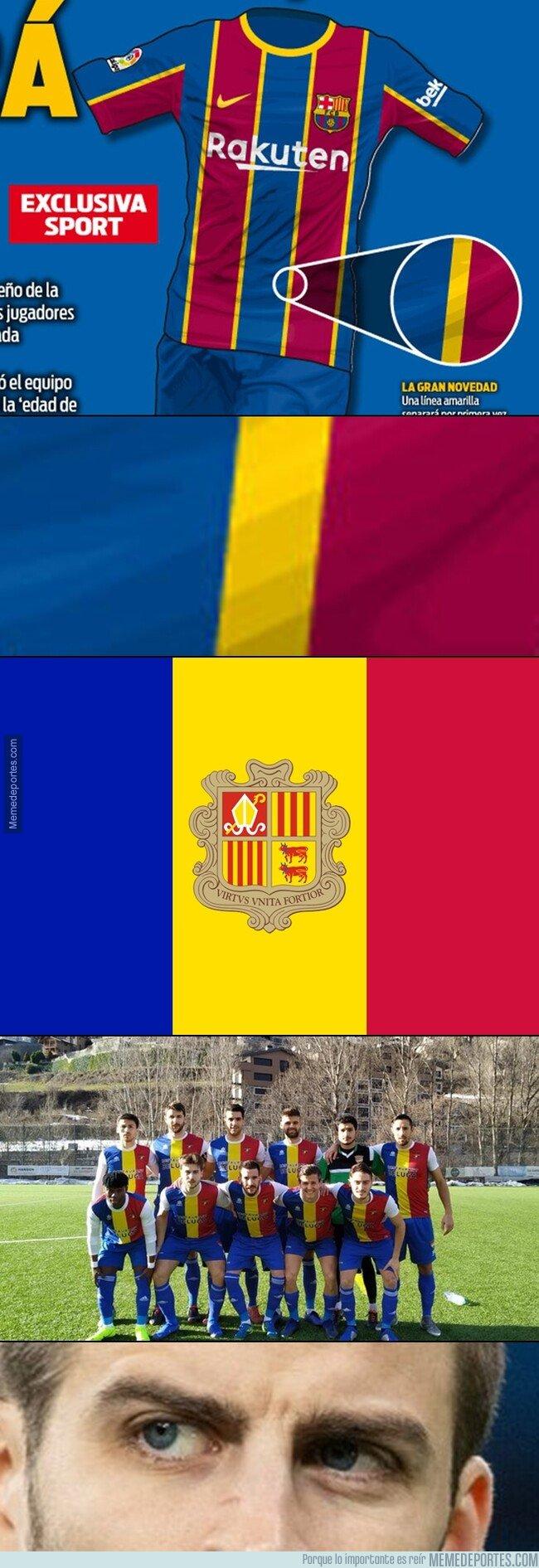 1086320 - Si le hacemos Zoom a la 'nueva' camiseta del Barça