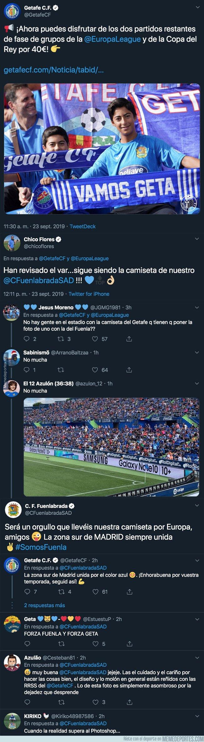 1086543 - El Getafe pone a la venta partidos de Europa League y Copa y el Fuenlabrada termina troleándole por este detalle en la foto