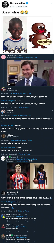 1086550 - Polémica racista en el Manchester City: Bernardo Silva compara a Mendy con un 'Conguito'