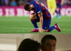 Enlace a Messi hace sufrir a los culés con sus lesiones