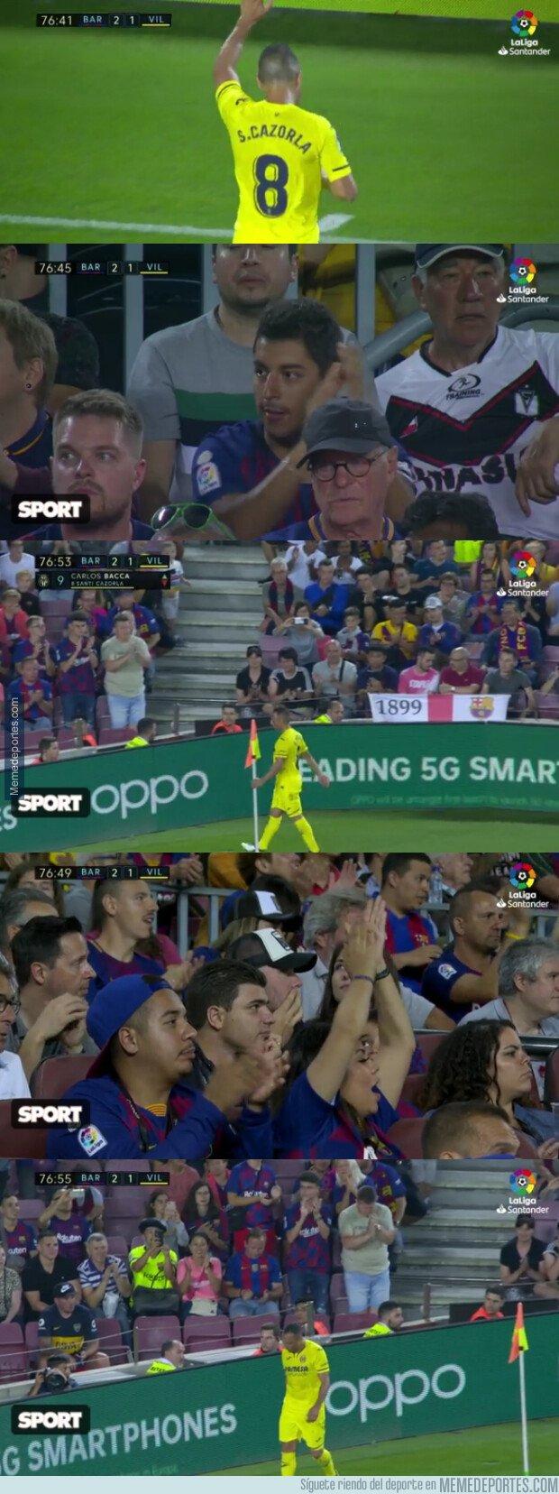 1086726 - La merecidísima ovación del Camp Nou a un crack como Santi Cazorla
