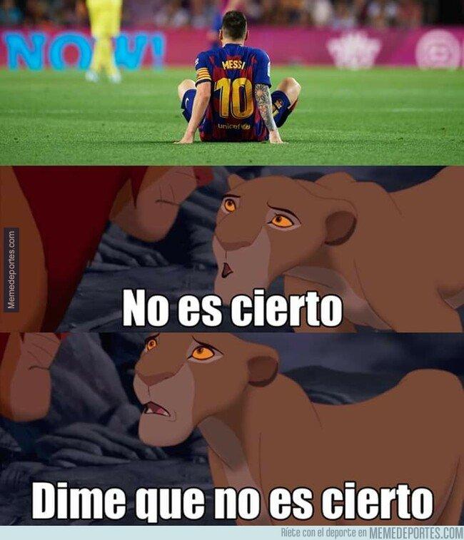1086735 - Los culés viendo la nueva lesión de Messi