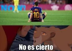 Enlace a Los culés viendo la nueva lesión de Messi