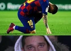 Enlace a Cuando ves que Messi no se ha podido recuperar
