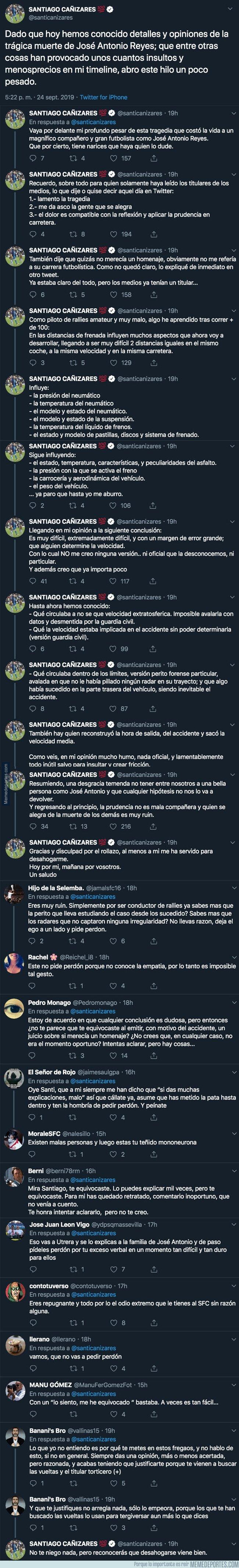 1086743 - Salen nuevos datos sobre el accidente de José Antonio Reyes y Cañizares tiene que salir a defenderse por lo que dijo en su día