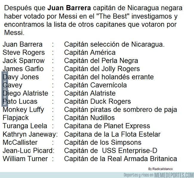 1086787 - Capitanes que votaron por Messi en