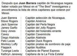 Enlace a Capitanes que votaron por Messi en