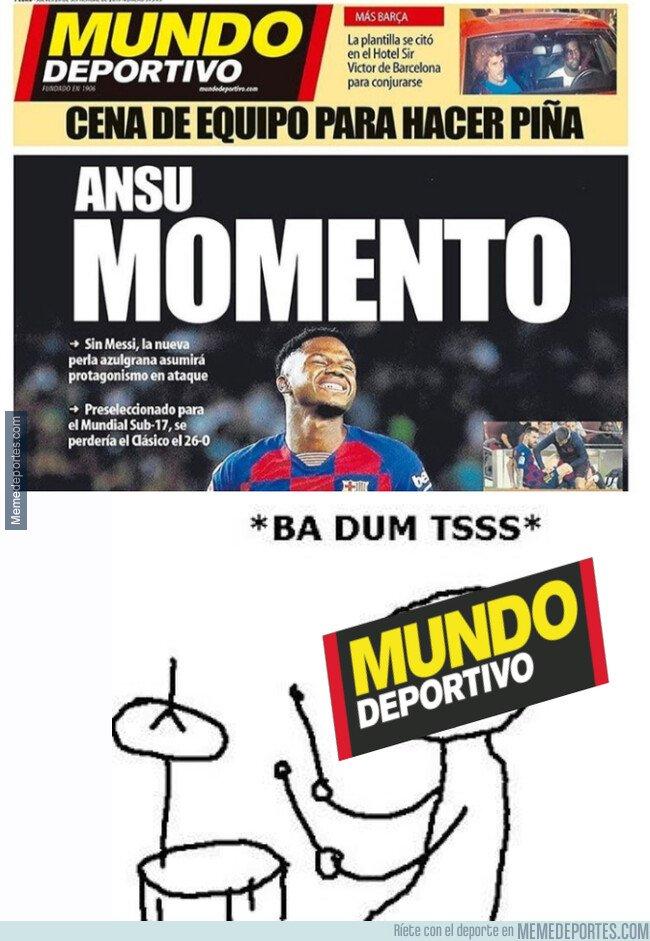 1086903 - Los titulares de Mundo Deportivo, Ansu línea habitual