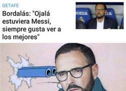 Enlace a Bordalás prefiere tener a Messi enfrente