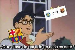Enlace a El Barça consigue su primera victoria como visitante