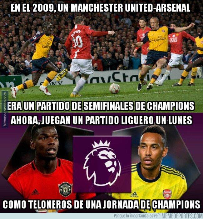 1087136 - Menudo bajonazo de Arsenal y United en 10 años