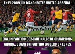 Enlace a Menudo bajonazo de Arsenal y United en 10 años