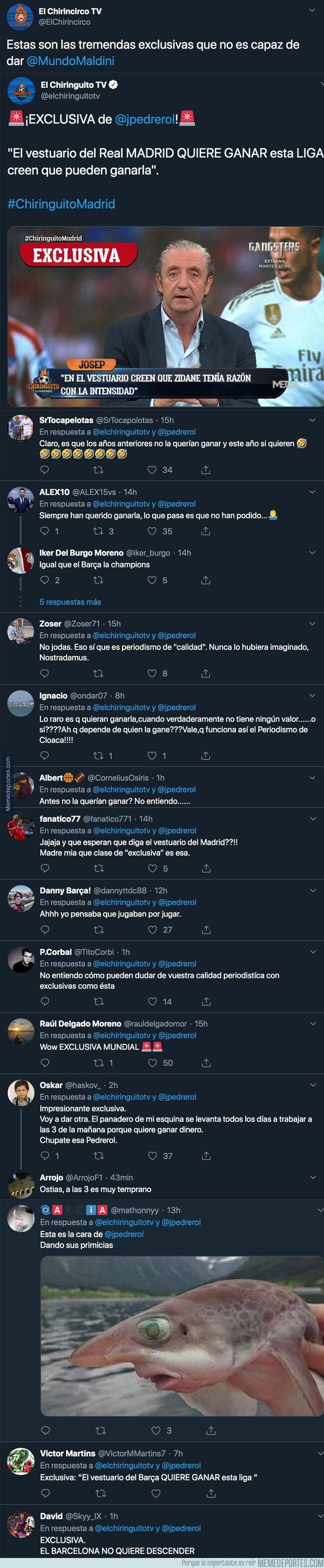 1087161 - Todo el mundo se está riendo de Pedrerol por la exclusiva que ha dado sobre el Real Madrid