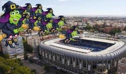 Enlace a El Brujas llegando al Bernabéu