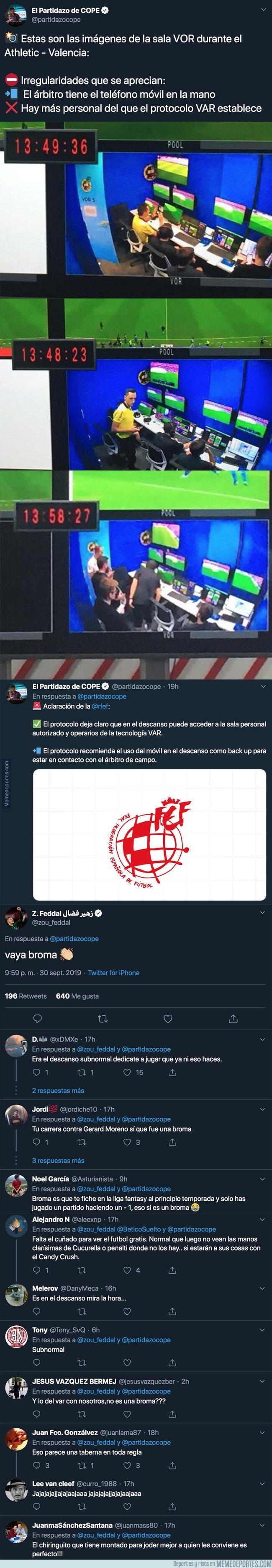 1087251 - Escándalo: Esto ocurrió en la sala del VAR durante el Athletic-Valencia y el jugador Feddal, del Betis, salió a criticar