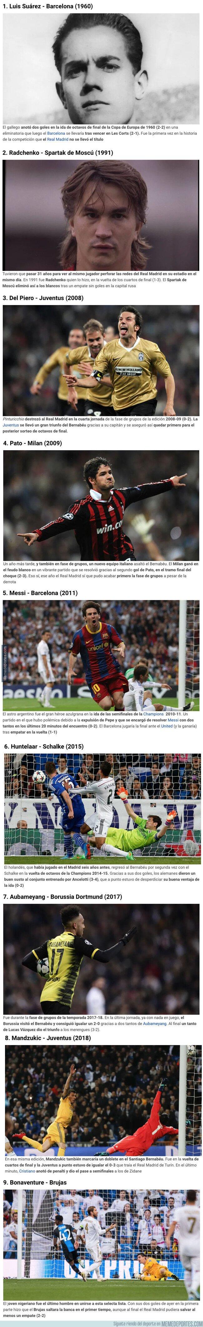 1087406 - Jugadores que le han hecho un doblete al Real Madrid en Copa de Europa en su estadio