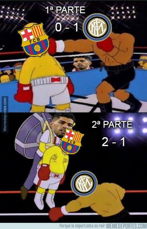 1087472 - Luis Suárez salvó al Barça con un doblete contra el Inter de Milán...