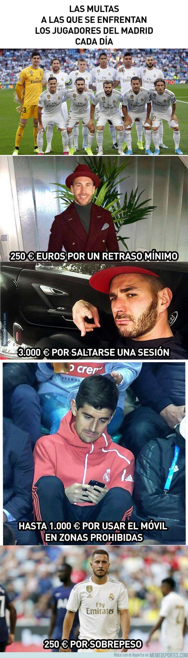 1087508 - Los jugadores del Real Madrid y sus multas