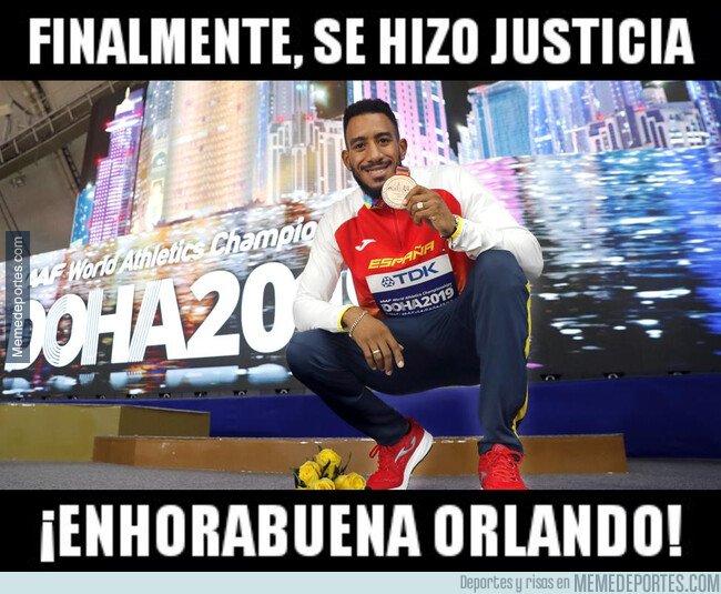 1087550 - Merecidísimo bronce para Orlando Ortega