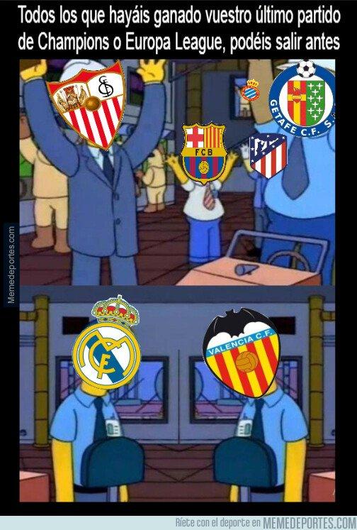 1087566 - Todos pueden salir antes menos Real Madrid y Valencia...