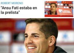 Enlace a Robert Moreno se guarda a su As