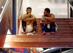 Enlace a Un pedacito argentino en los túneles del Camp Nou