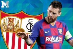 Enlace a Los Sevillanos practicaron todas las tácticas en los tiros libres de Messi. Aun así, no funcionó.