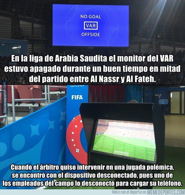 1088052 - El insólito caso del monitor del VAR apagado en la liga saudí