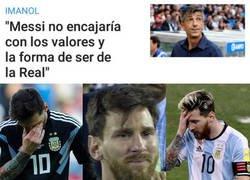 Enlace a Messi está llorando ahora mismo en su casa