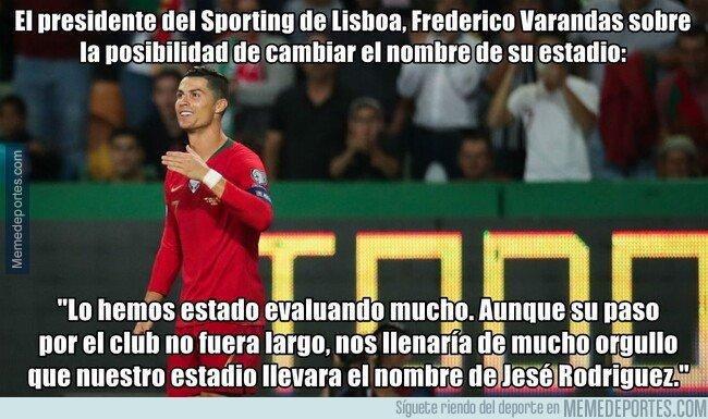 1088325 - El presidente del Sporting Lisboa evalua cambiar el nombre de su estadio por el de su máxima estrella