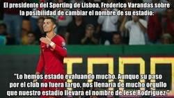 Enlace a El presidente del Sporting Lisboa evalua cambiar el nombre de su estadio por el de su máxima estrella