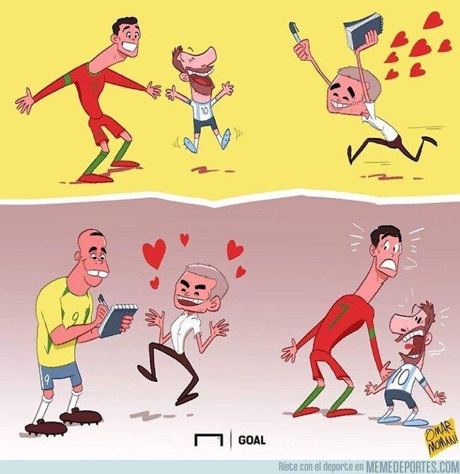 1088366 - Mourinho afirma que el mayor talento que ha visto ha sido el de Ronaldo Nazario, por @goalglobal