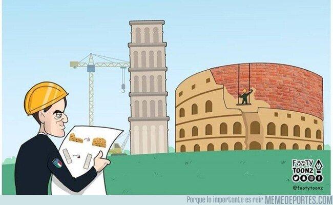 1088416 - Mancini reconstruye Italia y la devuelve a un gran torneo, por @footytoonz