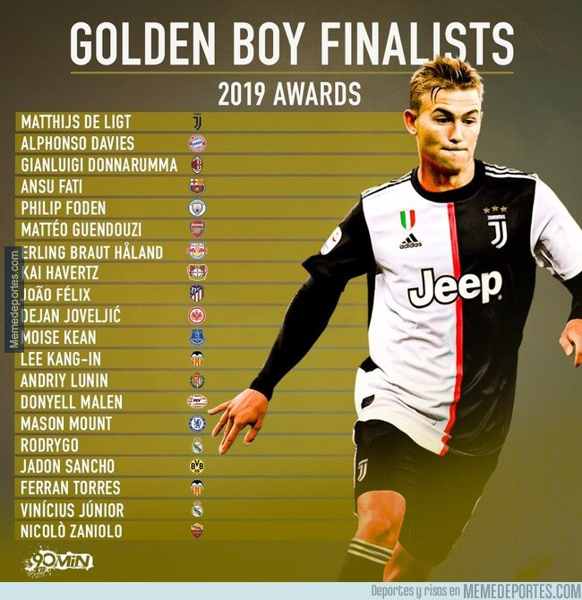 1088510 - La lista de los jugadores finalistas al premio Golden Boy ya está aquí