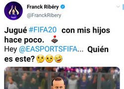 Enlace a A Ribery no le acaba de convencer su cara en FIFA 20