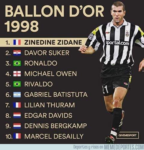 1088742 - El TOP 10 para el Balón de Oro del 98 era una auténtica locura