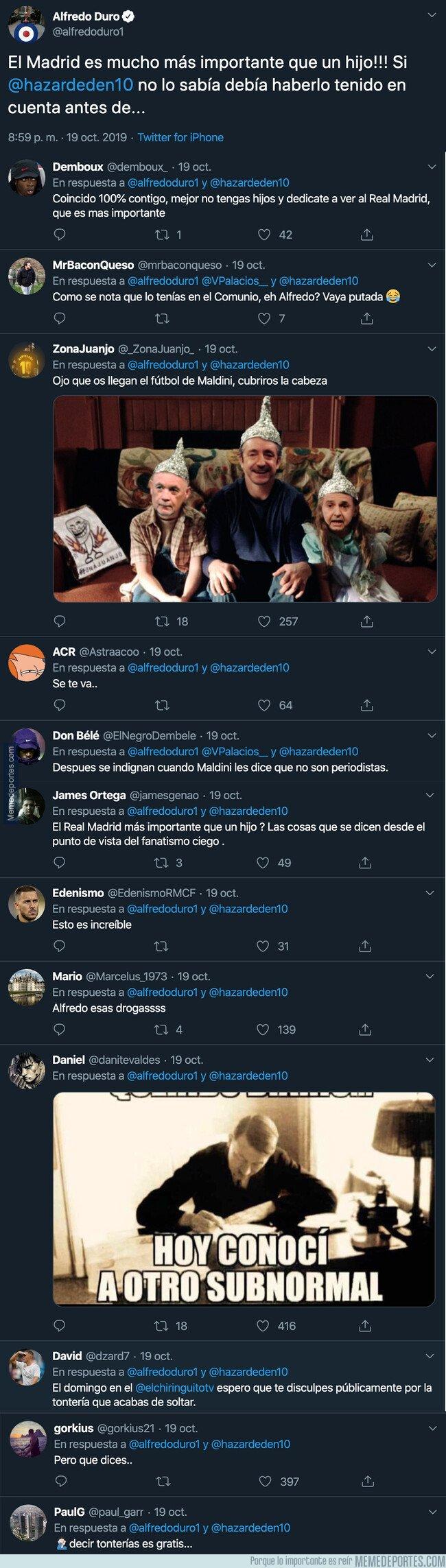 1088917 - Indignación total por esto que dijo Alfredo Duro sobre Hazard después de tener un hijo y perderse el partido del Real Madrid