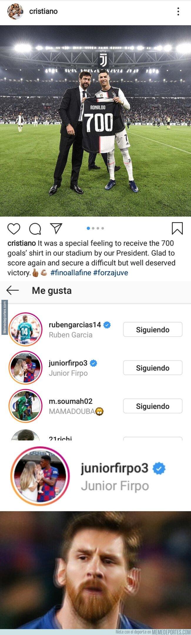 1088920 - A Messi no le gustará que a Junior le gusten los 700 goles de Cristiano