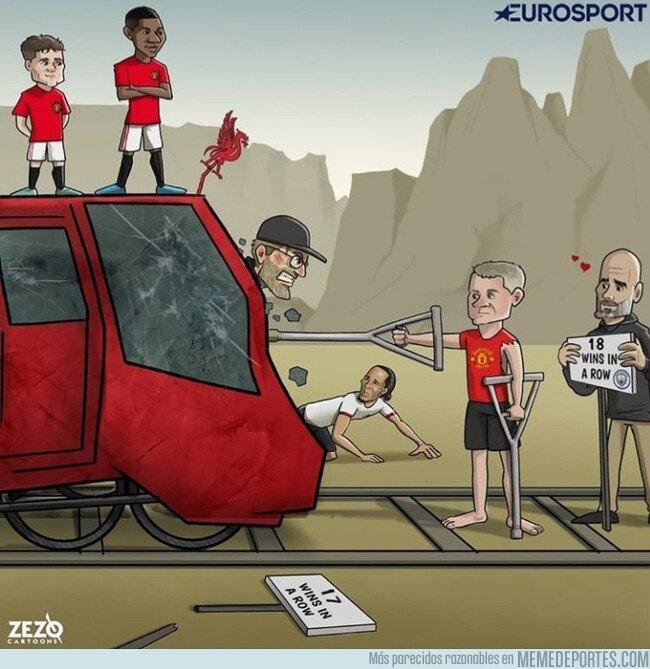 1089025 - El United frenó un tren imparable, por @zezocartoons