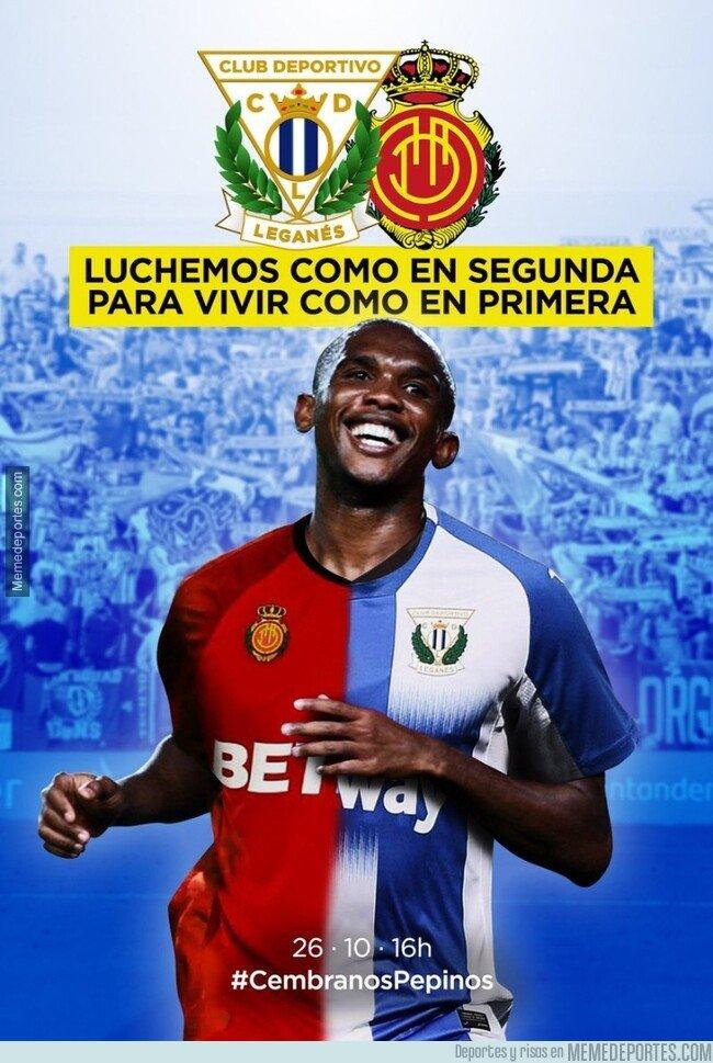 1089102 - El cartel con en el que el Leganés promociona su partido ante el Mallorca, dos ex de Samuel Eto'o