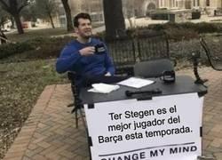 Enlace a Ter Stegen, el mejor desde hace años