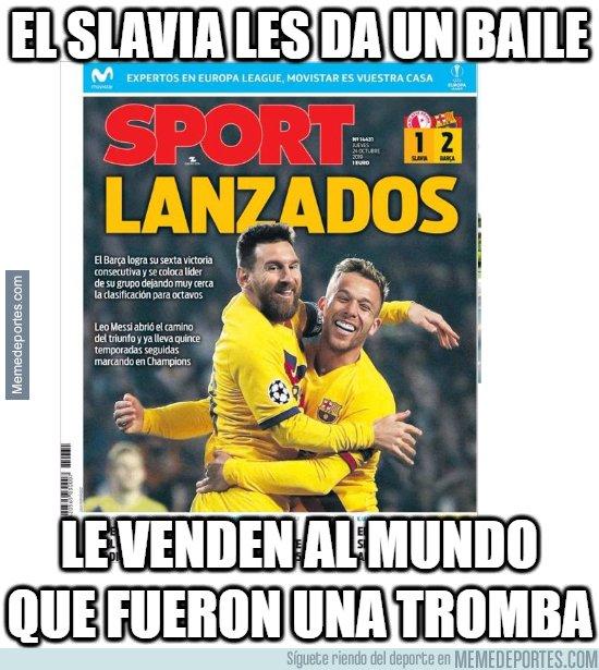 1089207 - Sport disfraza el triunfo del Barcelona